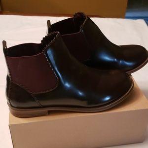 Zara Maroon booties size 3